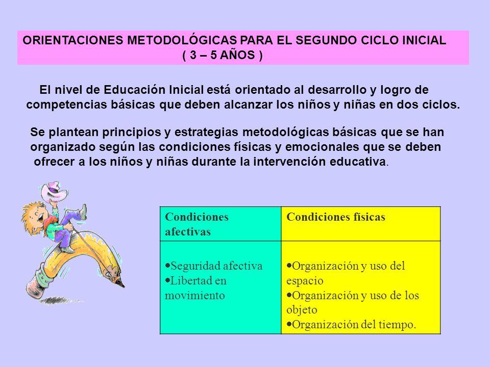 ORIENTACIONES METODOLÓGICAS PARA EL SEGUNDO CICLO INICIAL