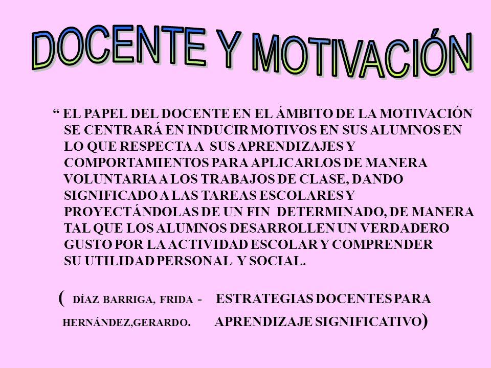 DOCENTE Y MOTIVACIÓN HERNÁNDEZ,GERARDO. APRENDIZAJE SIGNIFICATIVO)
