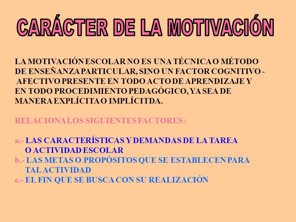 CARÁCTER DE LA MOTIVACIÓN