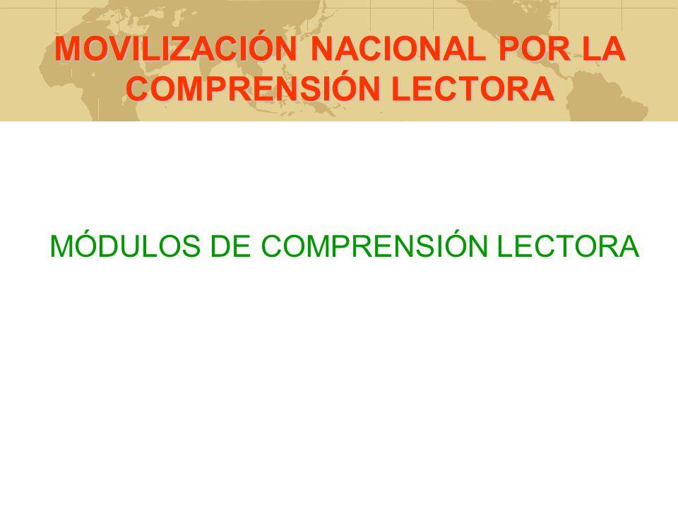 MOVILIZACIÓN NACIONAL POR LA COMPRENSIÓN LECTORA
