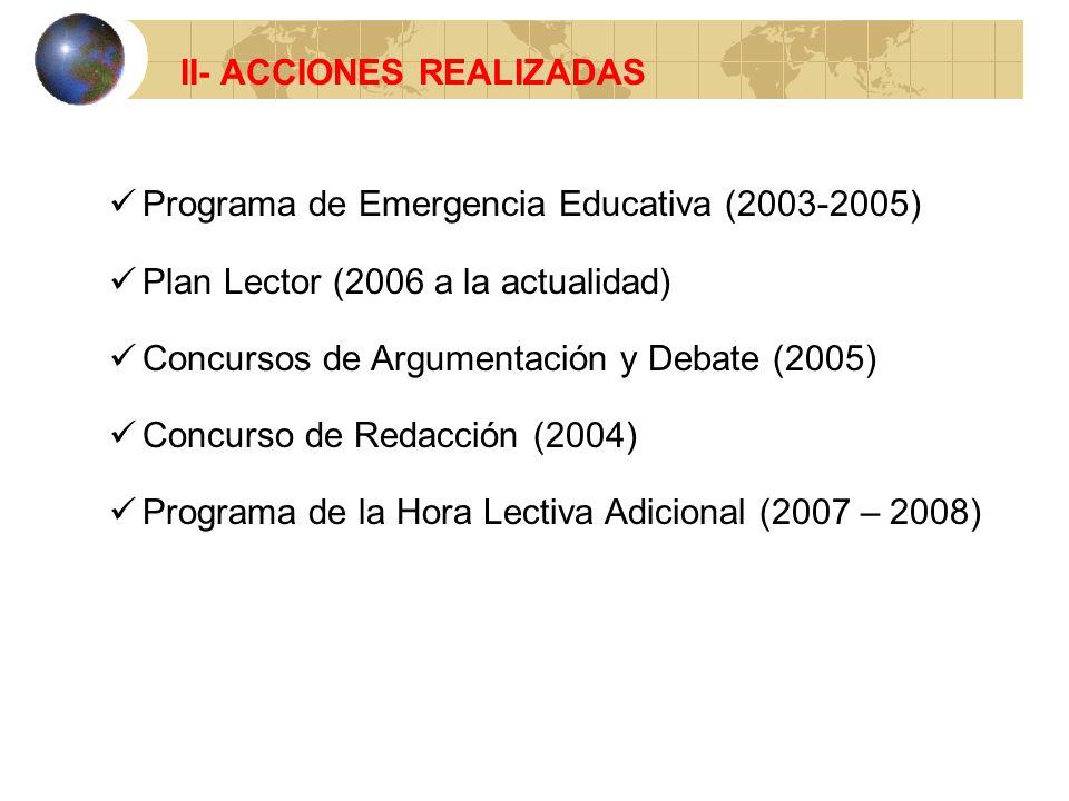 II- ACCIONES REALIZADAS
