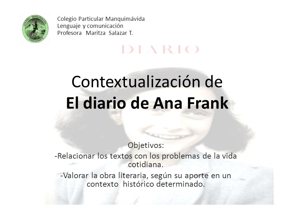 Contextualización de El diario de Ana Frank