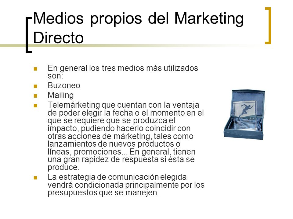 Medios propios del Marketing Directo