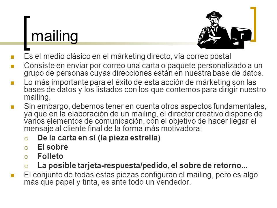 Sumilla marketing directo evoluci n bases de datos aplicaci n ppt descargar for Correo postal mas cercano