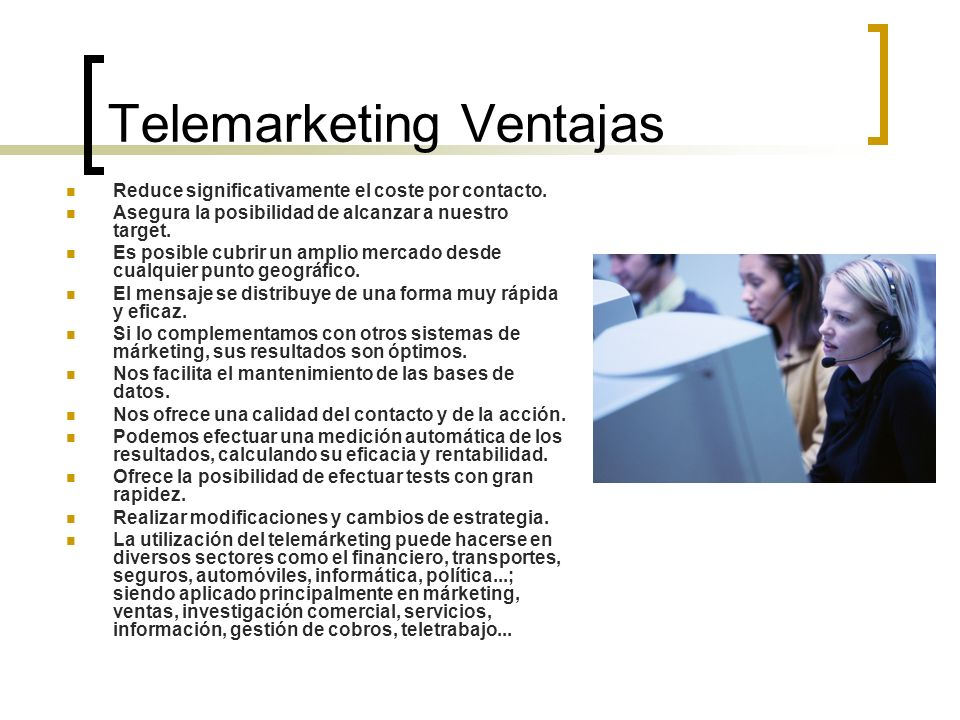 Telemarketing Ventajas