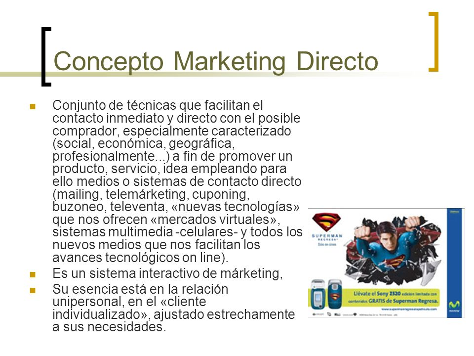Concepto Marketing Directo