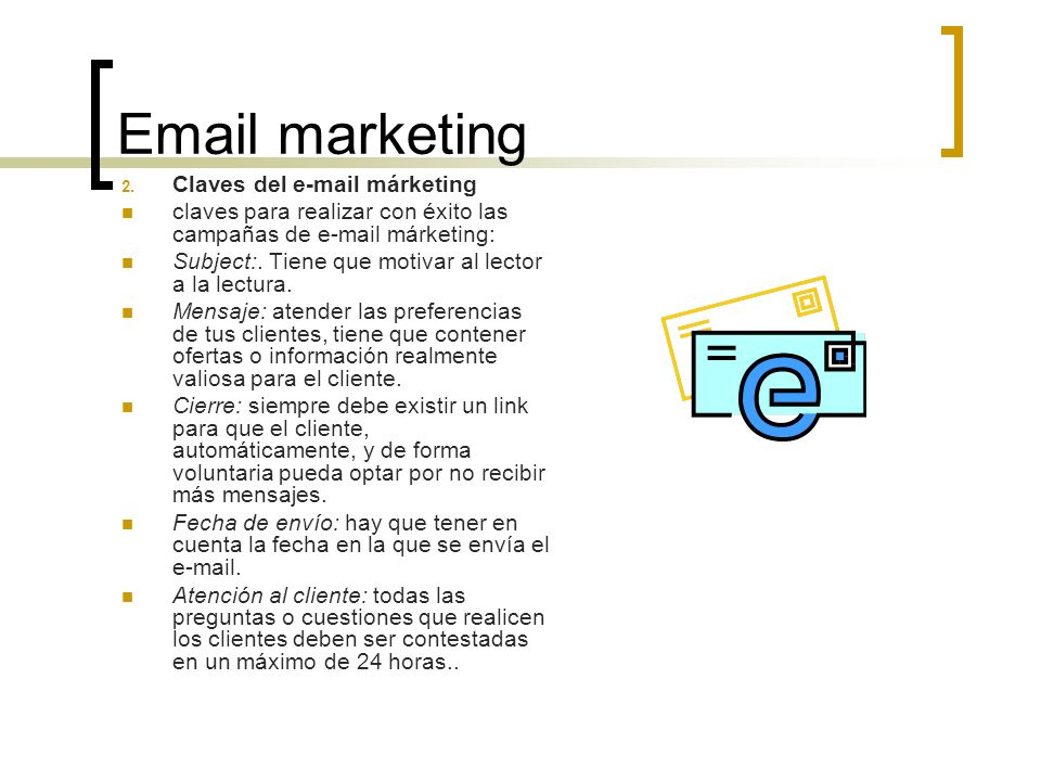 Email marketing Claves del e-mail márketing
