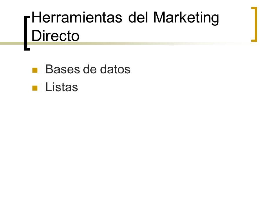 Herramientas del Marketing Directo