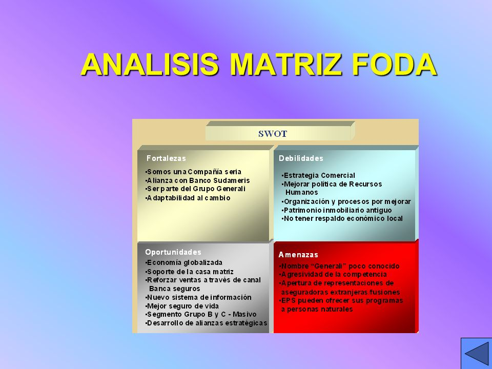 ANALISIS MATRIZ FODA