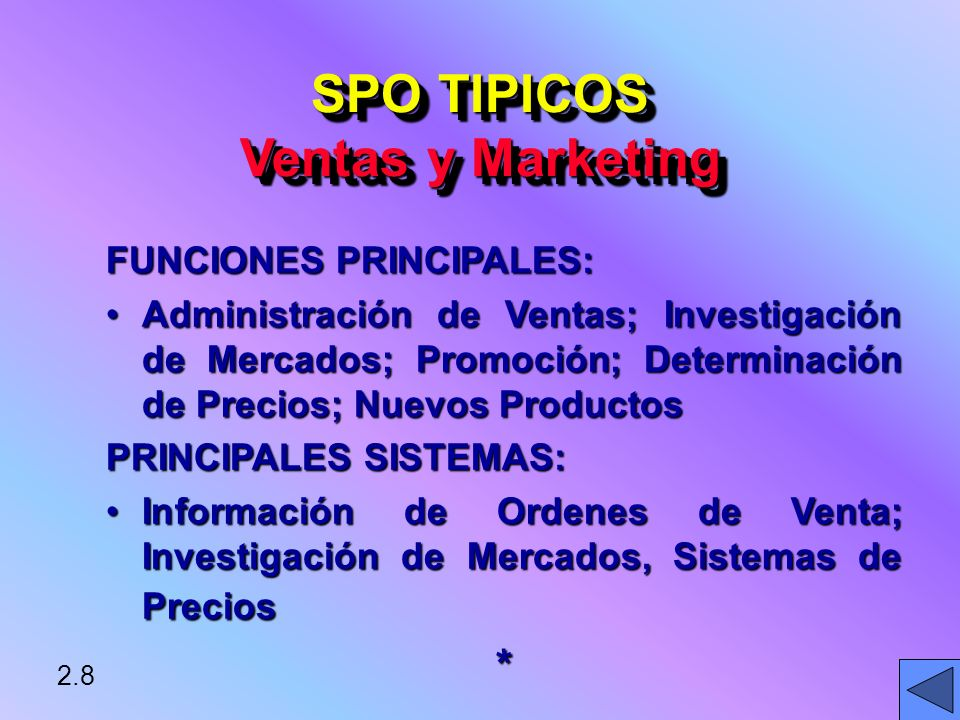 SPO TIPICOS Ventas y Marketing
