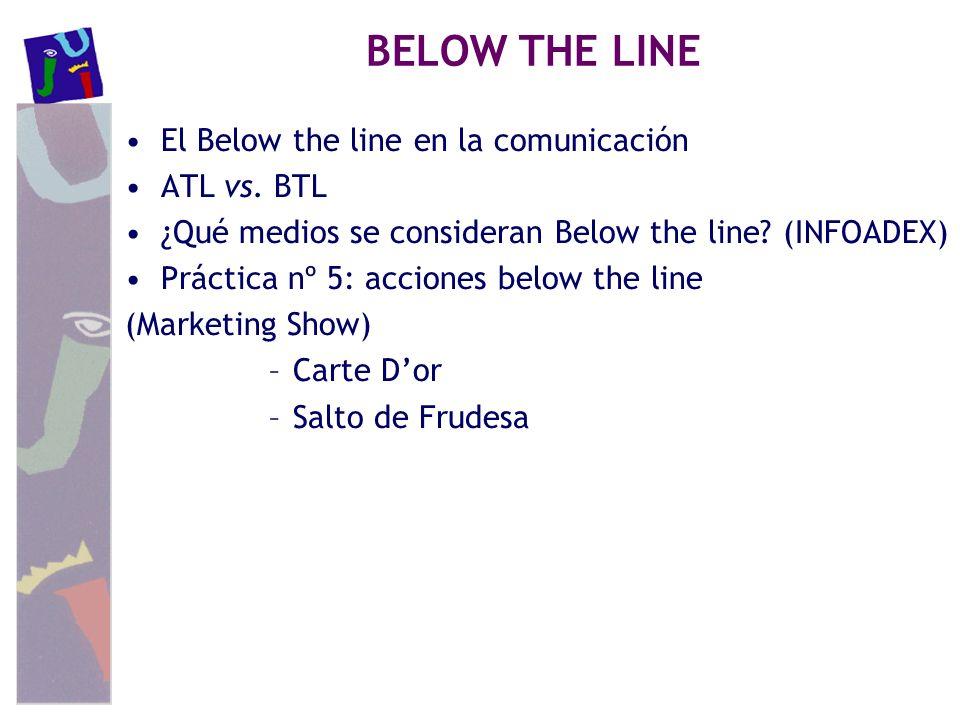 BELOW THE LINE El Below the line en la comunicación ATL vs. BTL