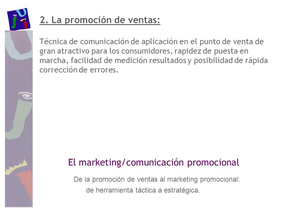 2. La promoción de ventas: