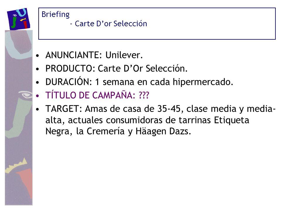 PRODUCTO: Carte D'Or Selección.