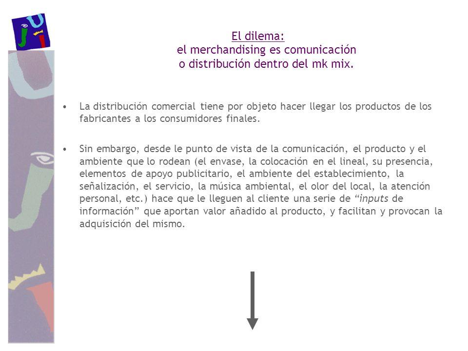 El dilema: el merchandising es comunicación o distribución dentro del mk mix.