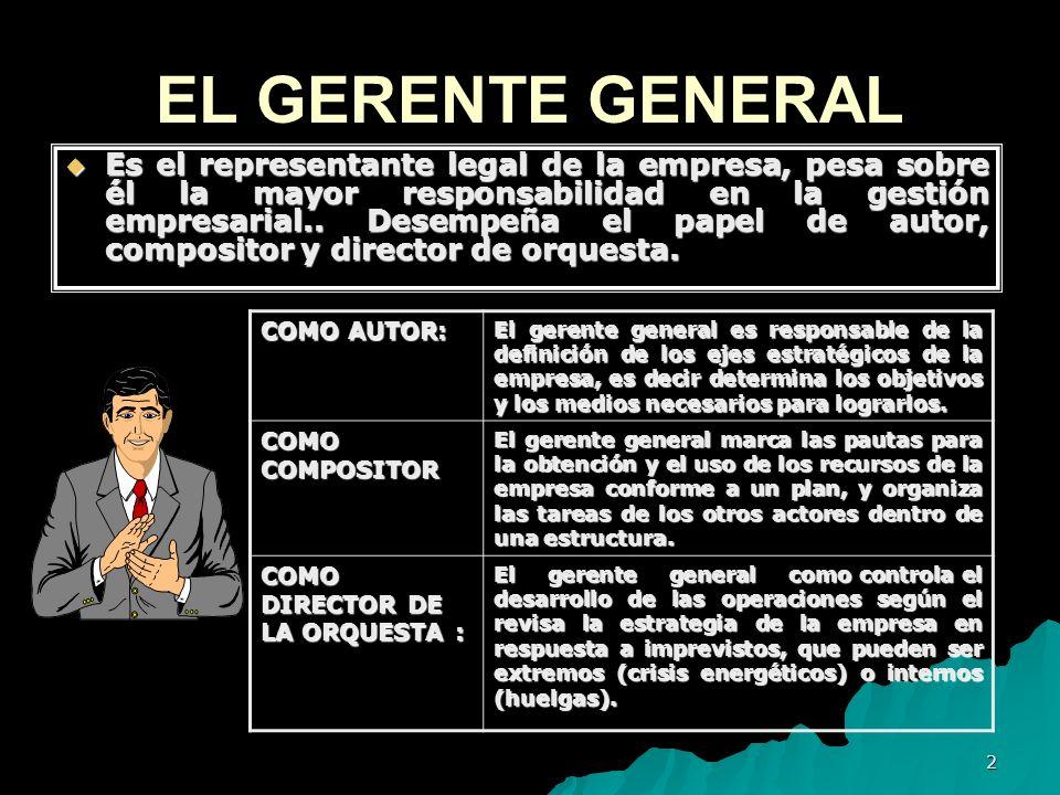 EL GERENTE GENERAL