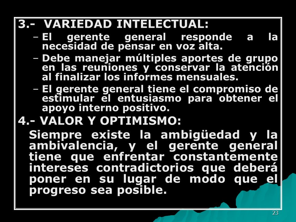 3.- VARIEDAD INTELECTUAL: