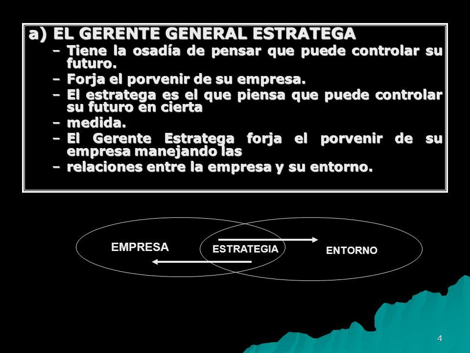 a) EL GERENTE GENERAL ESTRATEGA