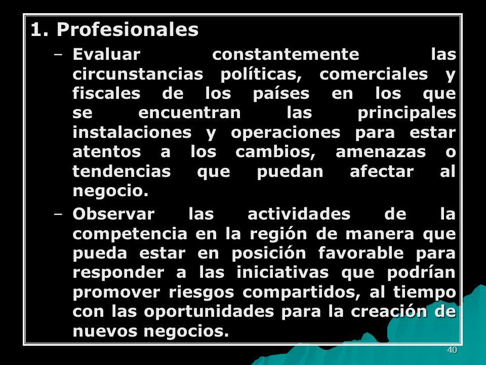 1. Profesionales