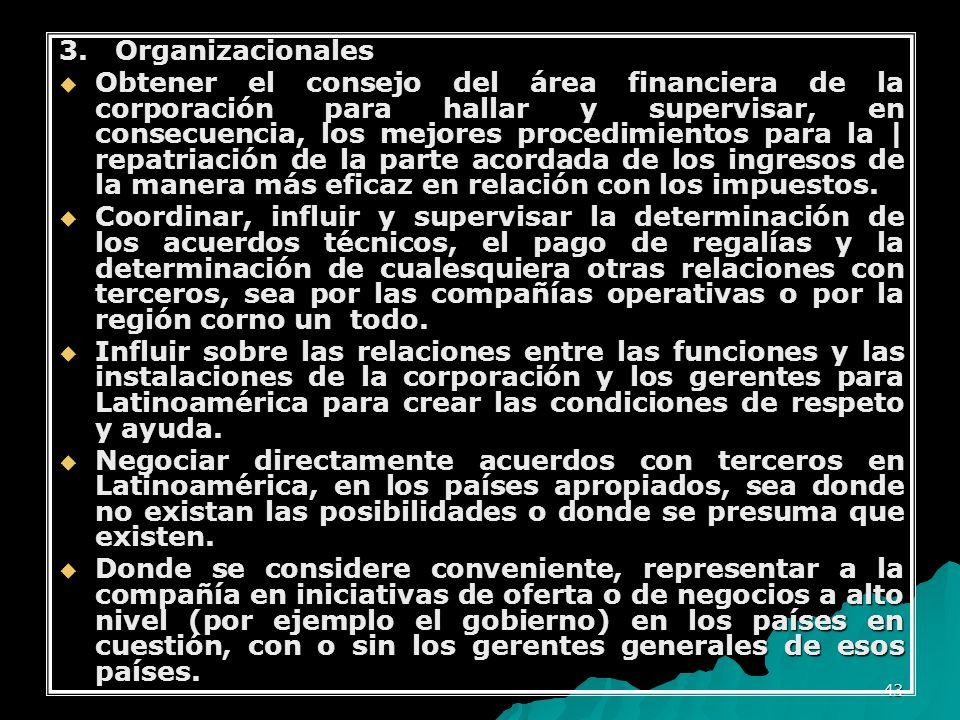 3. Organizacionales