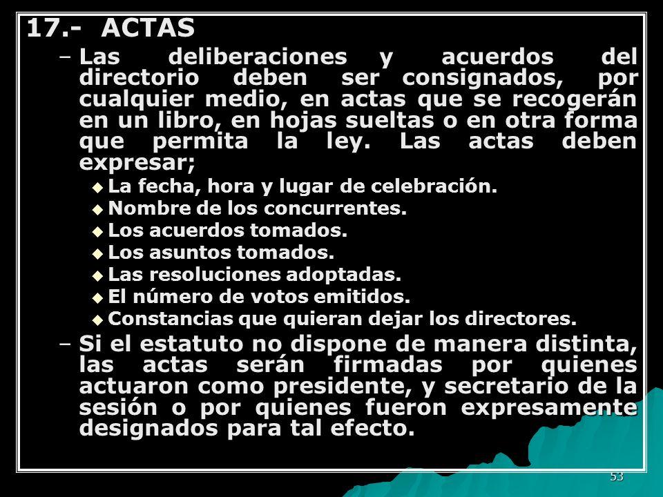 17.- ACTAS
