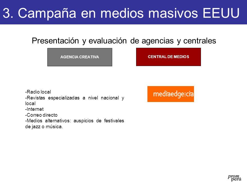 Presentación y evaluación de agencias y centrales