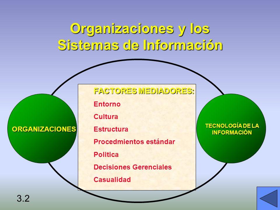 Organizaciones y los Sistemas de Información