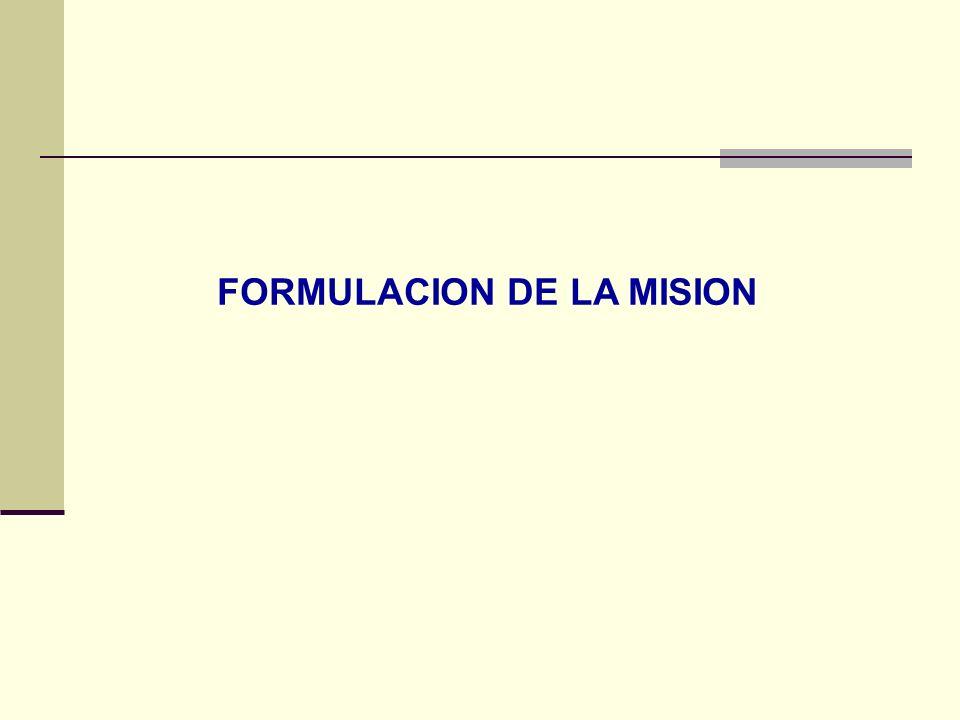 FORMULACION DE LA MISION