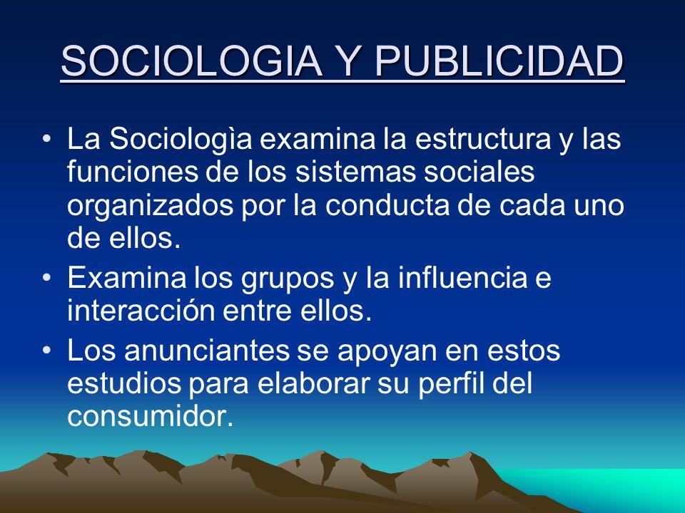 SOCIOLOGIA Y PUBLICIDAD