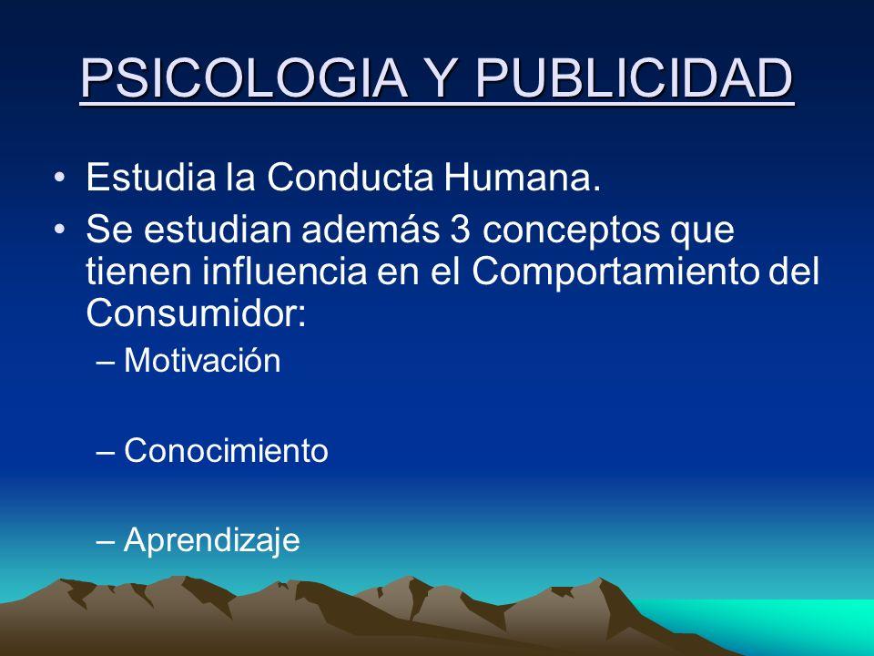 PSICOLOGIA Y PUBLICIDAD