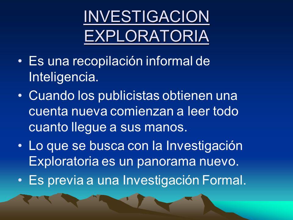 INVESTIGACION EXPLORATORIA
