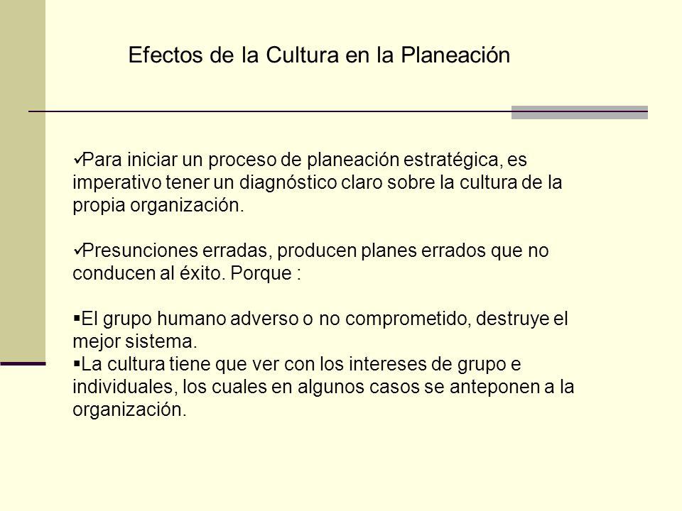 Efectos de la Cultura en la Planeación