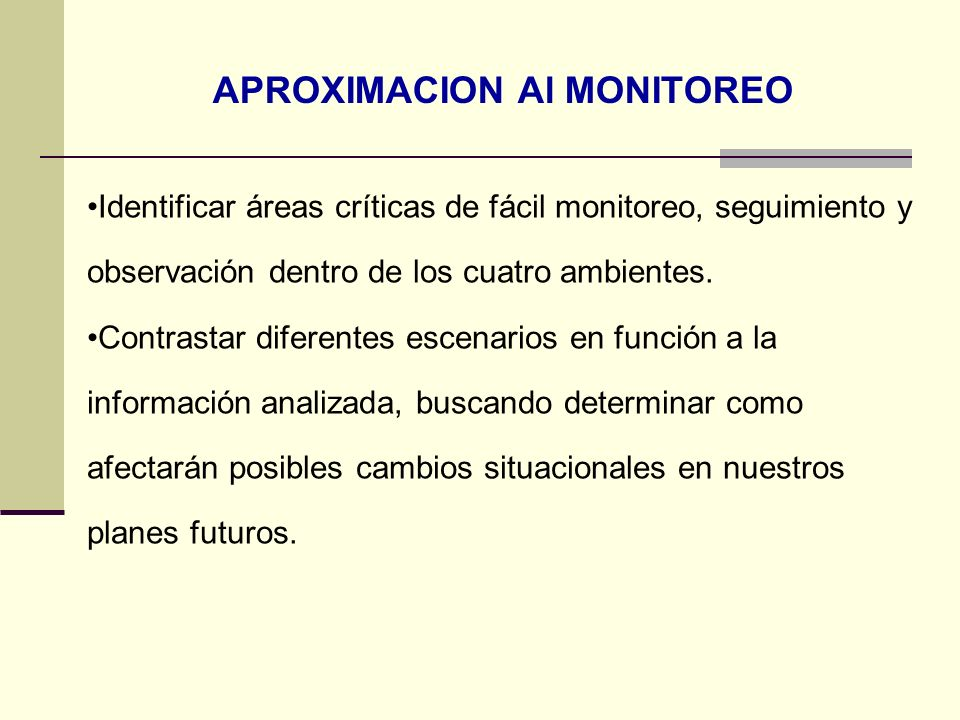 APROXIMACION Al MONITOREO