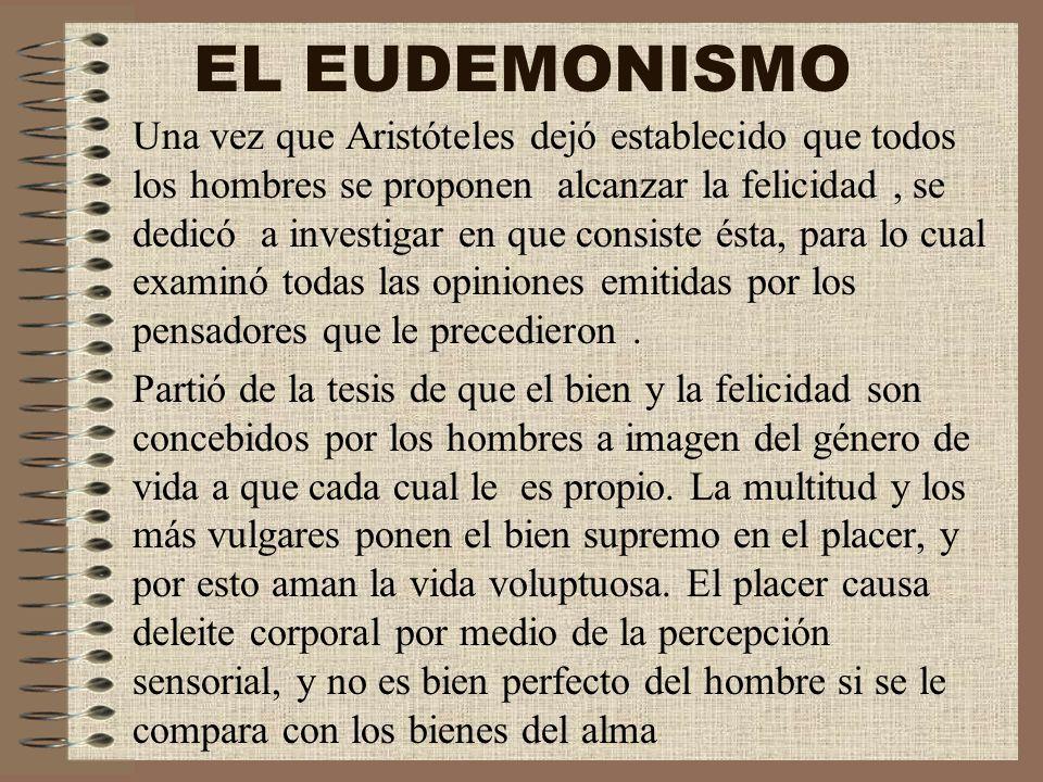 EL EUDEMONISMO