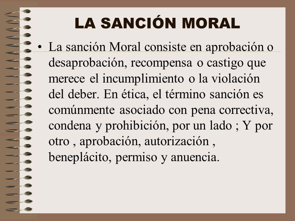 LA SANCIÓN MORAL