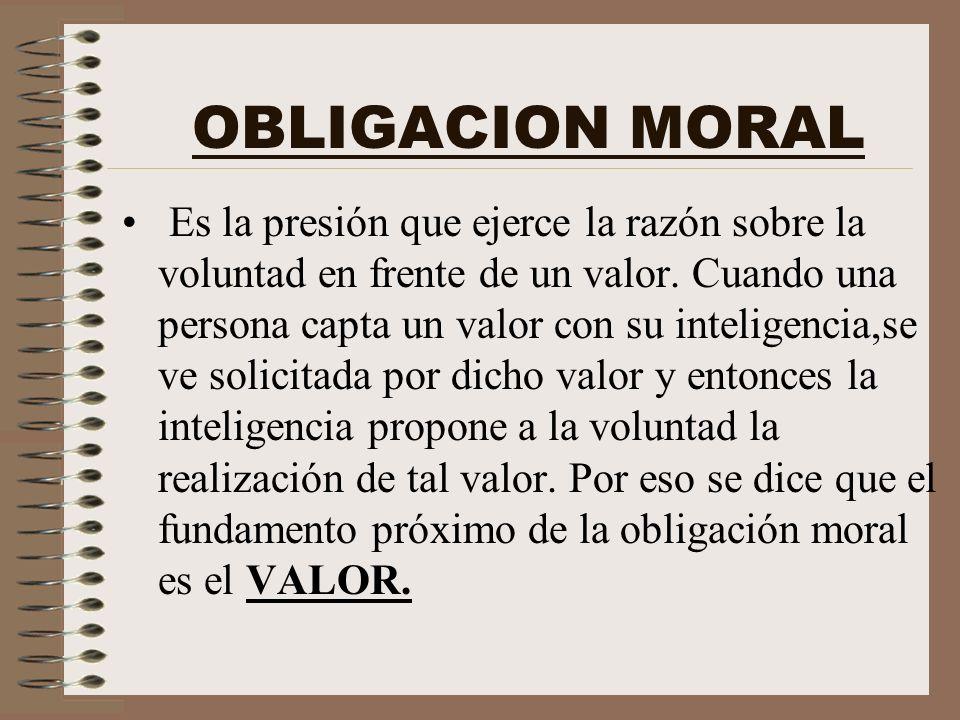 OBLIGACION MORAL
