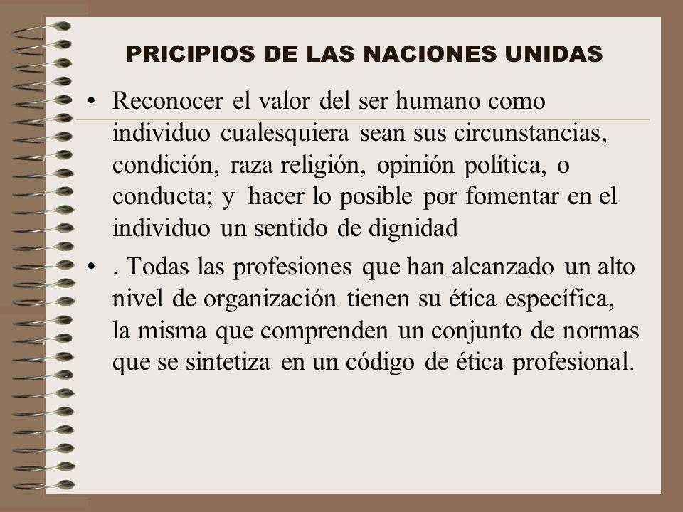 PRICIPIOS DE LAS NACIONES UNIDAS