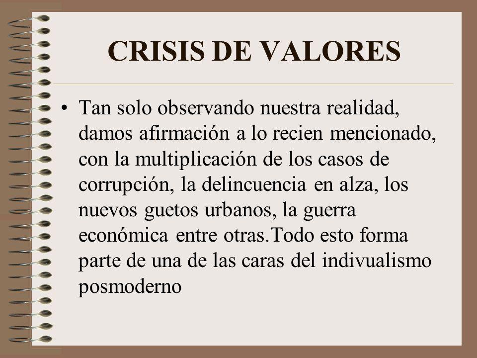 CRISIS DE VALORES