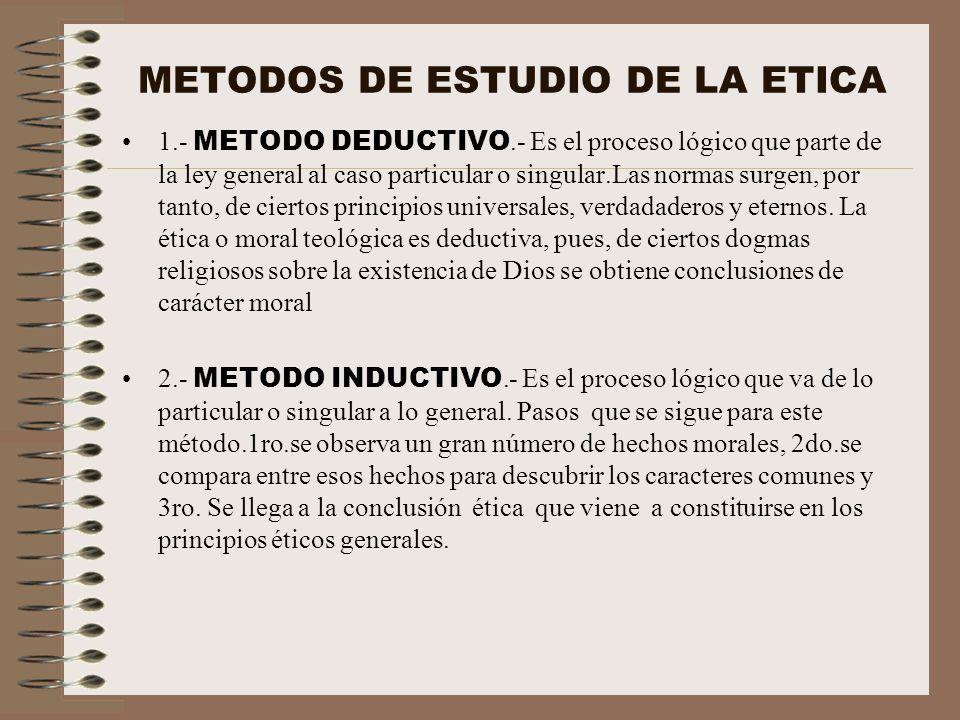 METODOS DE ESTUDIO DE LA ETICA