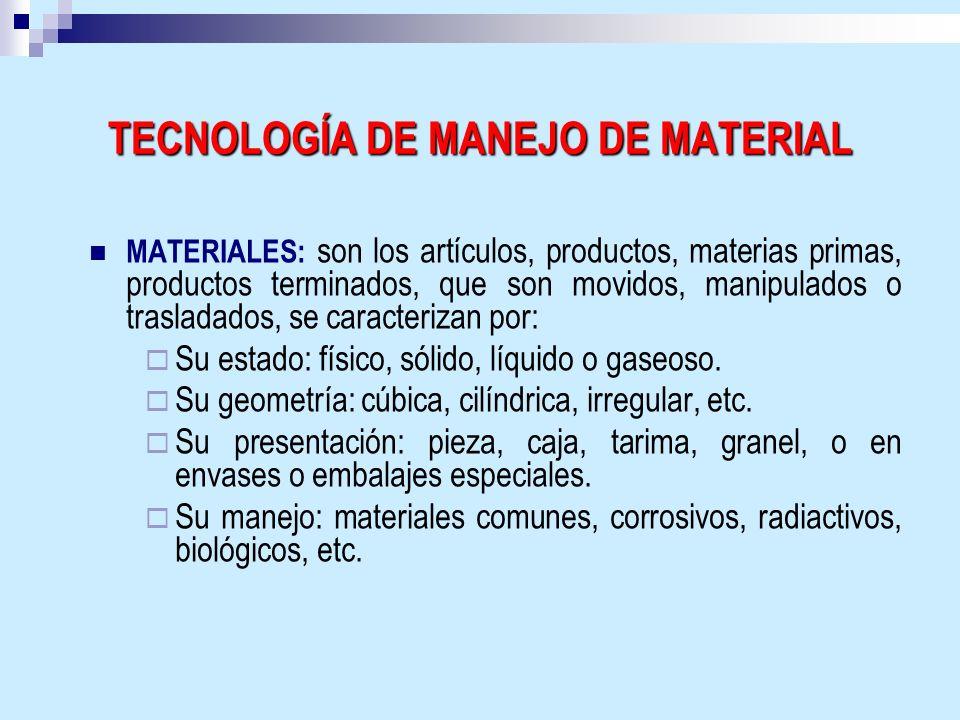 TECNOLOGÍA DE MANEJO DE MATERIAL