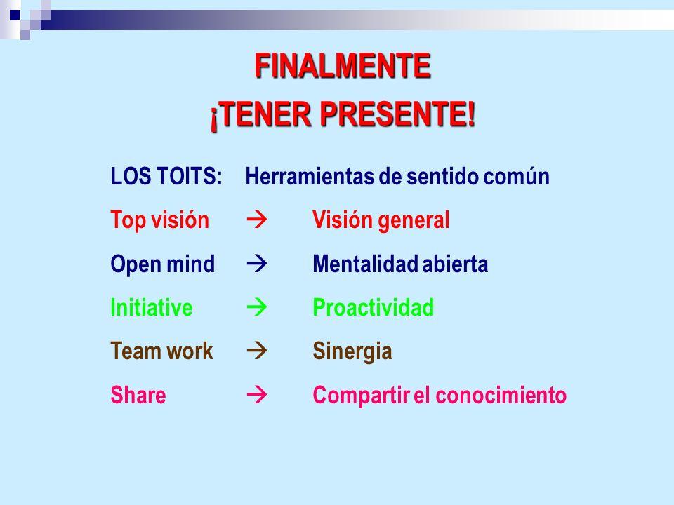 FINALMENTE ¡TENER PRESENTE!