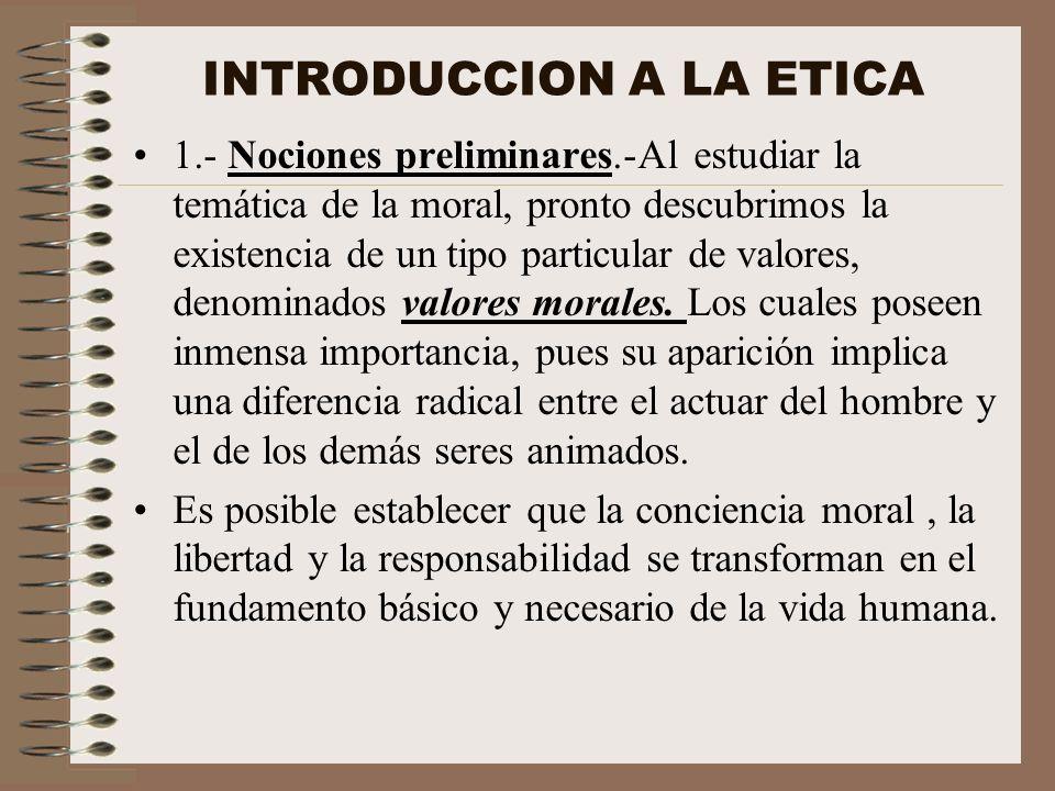 INTRODUCCION A LA ETICA
