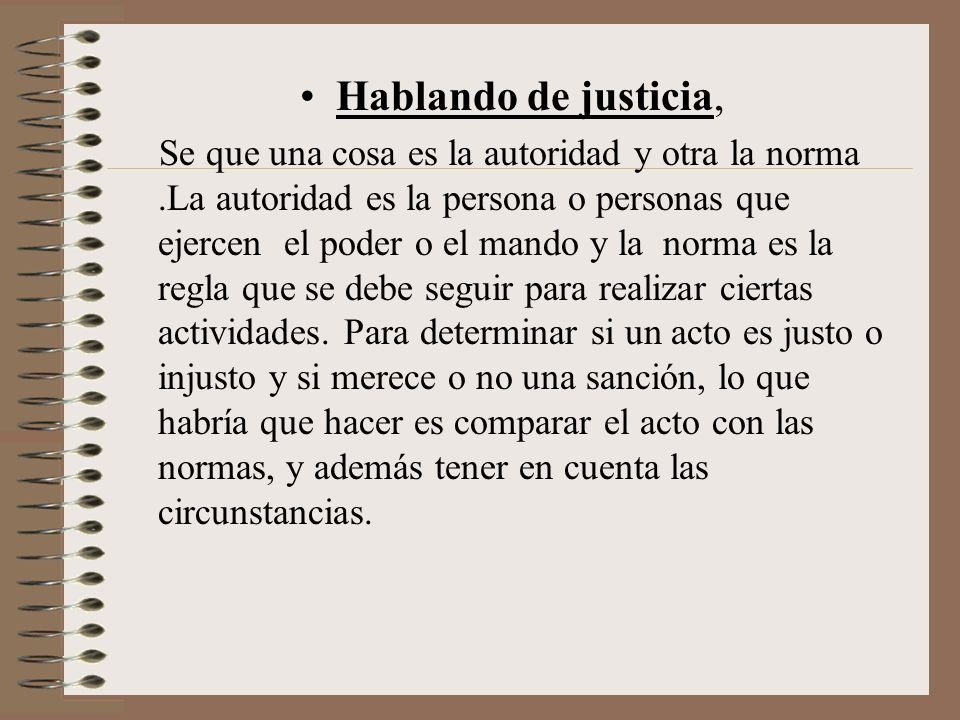 Hablando de justicia,