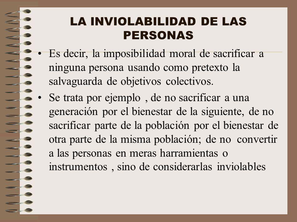 LA INVIOLABILIDAD DE LAS PERSONAS