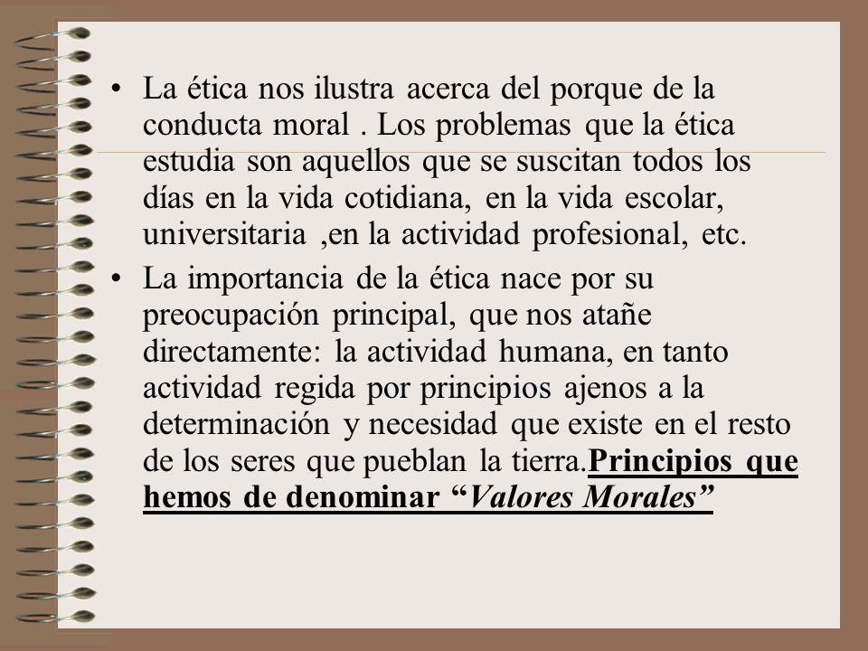 La ética nos ilustra acerca del porque de la conducta moral