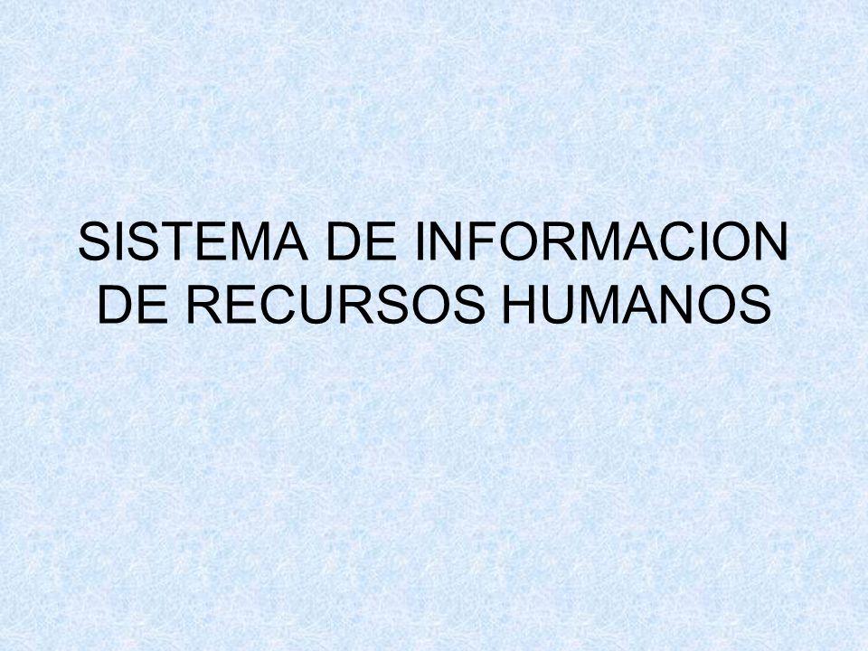 SISTEMA DE INFORMACION DE RECURSOS HUMANOS