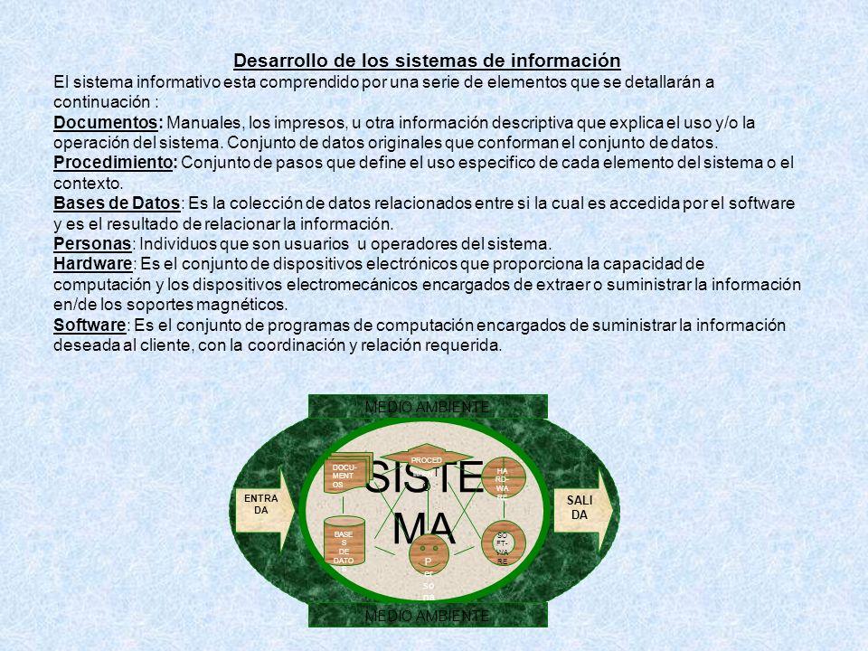 Desarrollo de los sistemas de información