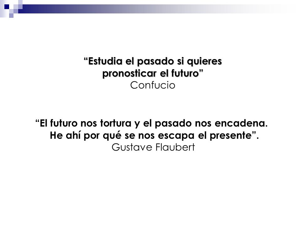 Estudia el pasado si quieres pronosticar el futuro Confucio