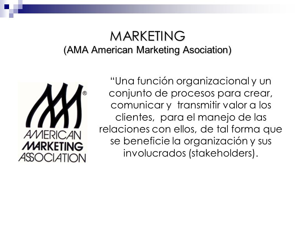 MARKETING (AMA American Marketing Asociation)