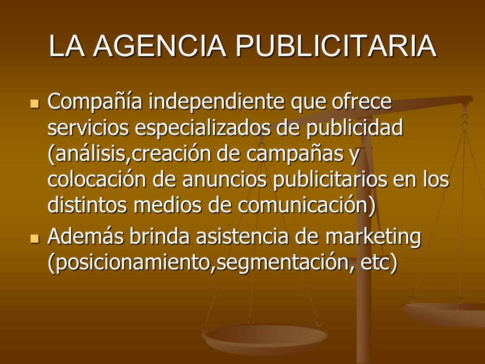 LA AGENCIA PUBLICITARIA
