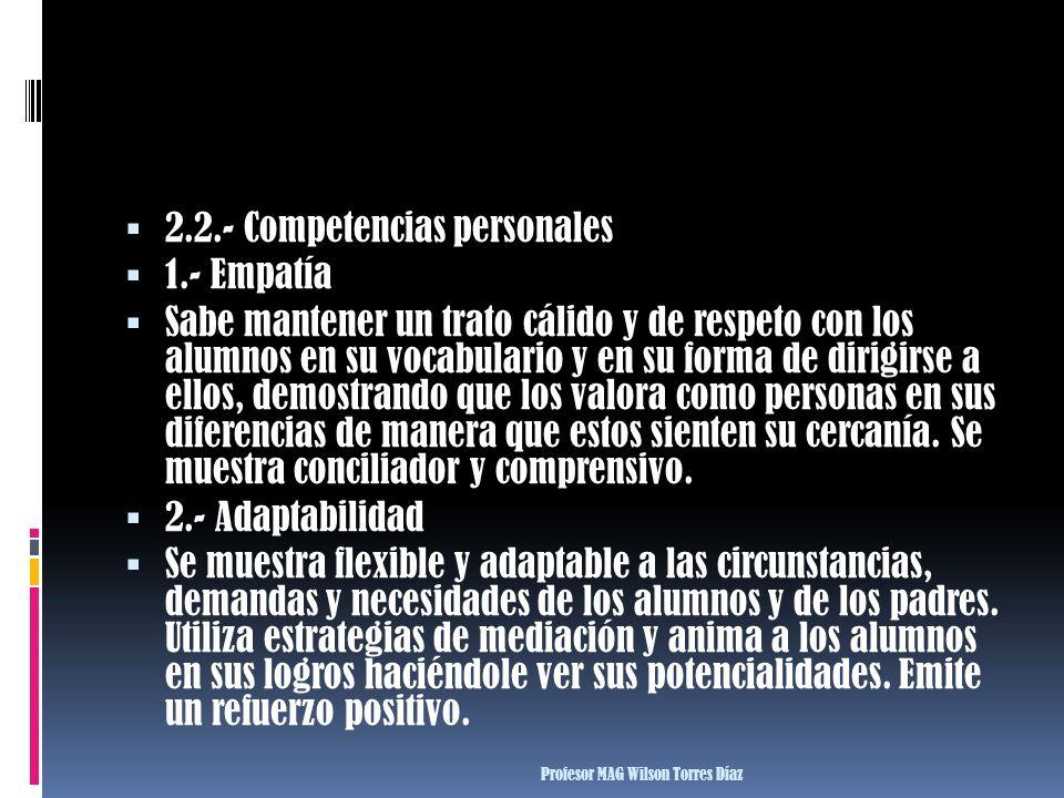 2.2.- Competencias personales 1.- Empatía